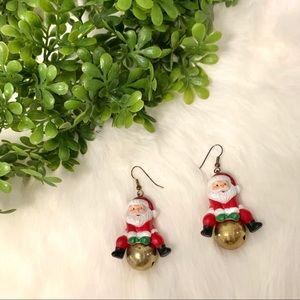 Santa Claus on a Wrecking Ball Earrings